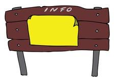 Panneau-réclame d'information Image libre de droits