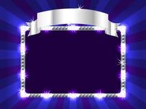 Panneau-réclame dans le bleu Photographie stock libre de droits