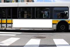 Panneau-réclame de côté de bus Photos libres de droits