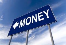 Panneau-réclame de concept d'argent Image libre de droits