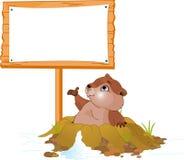 Panneau-réclame de jour de Groundhog Photographie stock libre de droits