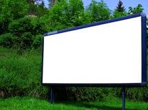 Panneau-réclame de publicité blanc Photo libre de droits