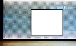 Panneau-réclame de publicité blanc image libre de droits