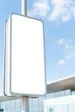 Panneau-réclame de publicité blanc Photos libres de droits