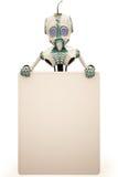 Panneau-réclame de robot Image libre de droits