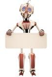 Panneau-réclame de robot Photo stock