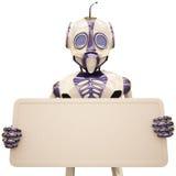 Panneau-réclame de robot Images stock
