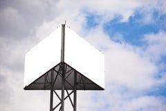 Panneau-réclame de triangle Photographie stock libre de droits