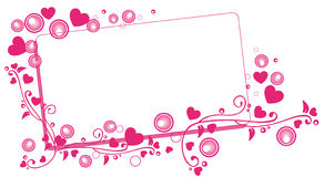 Panneau-réclame de Valentine illustration de vecteur