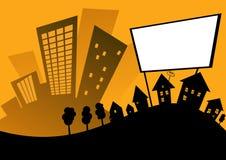 Panneau-réclame de ville Photo libre de droits