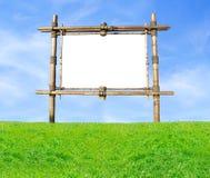 Panneau-réclame en bambou Images stock