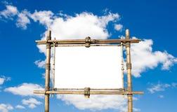 Panneau-réclame en bambou Photographie stock libre de droits