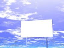 Panneau-réclame et ciel vides à l'arrière-plan Image stock