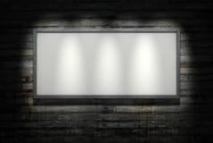 Panneau-réclame sur le mur de beton Image libre de droits