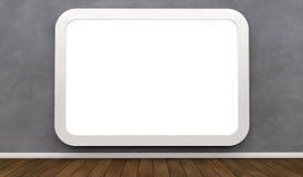 Panneau-réclame sur un mur Image libre de droits