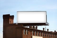 Panneau-réclame urbain blanc photos libres de droits