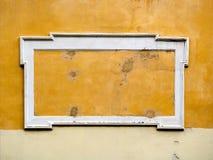 Panneau-réclame vue sur un mur antique Photos stock