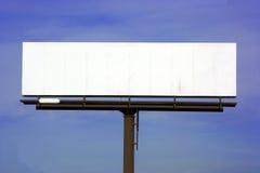 Panneau-réclame blanc d'omnibus Photo libre de droits