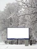 Panneau-réclame de neige Photo stock
