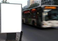 Panneau-réclame de ville Photos libres de droits