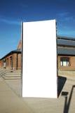 Panneau-réclame extérieur de blanc de rue Image libre de droits