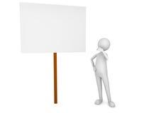 panneau regardant le signe d'homme Photos libres de droits
