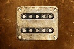 Panneau rouillé en métal Image stock