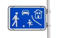 Panneau routier à la maison d'entrée de zone Photo libre de droits