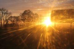 Panneau routier au soleil Image libre de droits