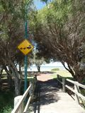 Panneau routier australien de province de nature photographie stock