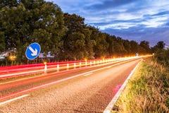 Panneau routier BRITANNIQUE de relais d'autoroute Photos libres de droits
