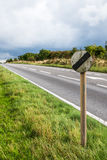 Panneau routier BRITANNIQUE de relais d'autoroute Image libre de droits