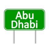 Panneau routier d'Abu Dhabi Photos stock