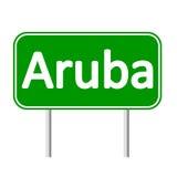 Panneau routier d'Aruba Images stock