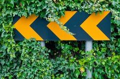 Panneau routier d'attention Images libres de droits