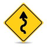 Panneau routier d'enroulement Photo libre de droits