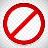 Panneau routier d'interdiction avec l'ombre Limite, signe de restriction illustration de vecteur