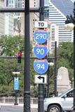 Panneau routier d'un état à un autre Etats-Unis Image libre de droits