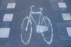 Panneau routier de bicyclette Image libre de droits
