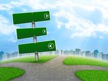 Panneau routier de carrefours illustration libre de droits
