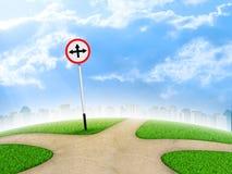 Panneau routier de carrefours illustration stock