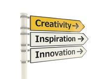 Panneau routier de créativité illustration libre de droits