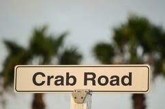 Panneau routier de crabe Photographie stock