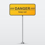 Panneau routier de danger. Illustration de vecteur Images libres de droits