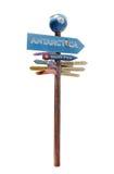Panneau routier de directions pour des endroits Photographie stock