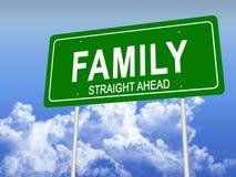 Panneau routier de famille Photographie stock libre de droits