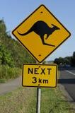 Panneau routier de kangourou Photo stock