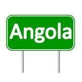 Panneau routier de l'Angola Images stock