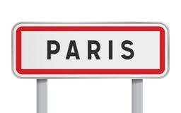 Panneau routier de Paris illustration libre de droits