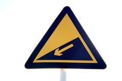 Panneau routier de pente raide Images libres de droits